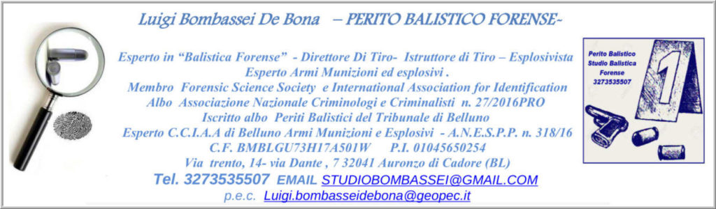 perito balistico studio balistica forense italia scena del crimine