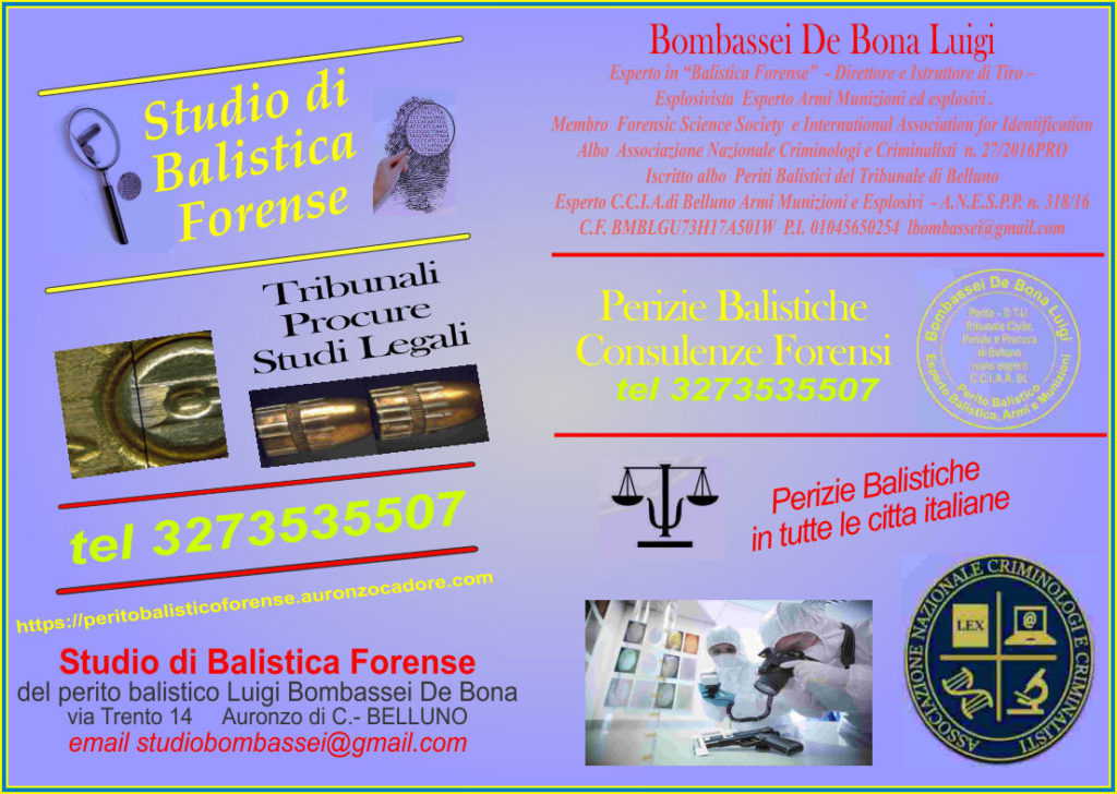 balistica forense esplosivistica giudiziaria armi antiche esplosioni