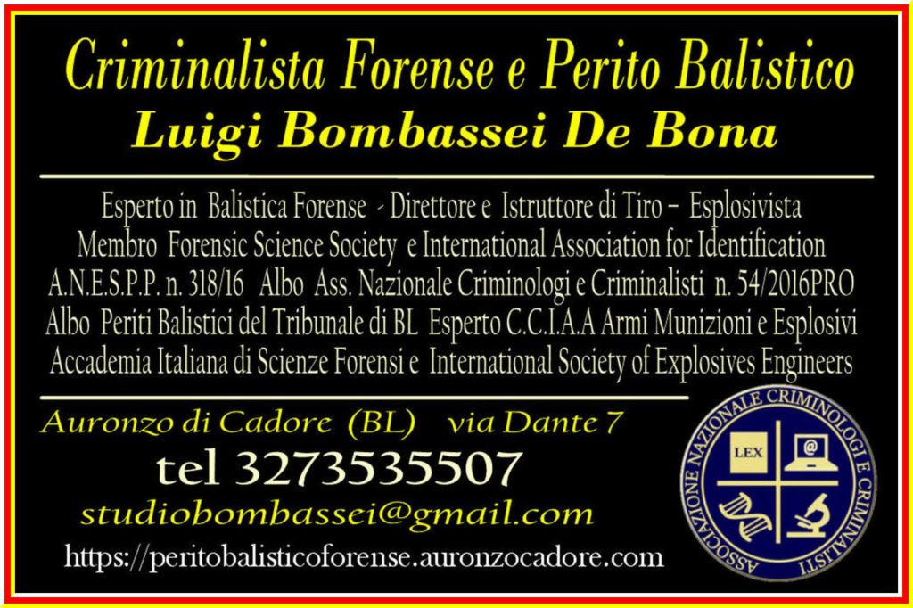 criminalista forense ricostruzione scena del crimine perito balistico