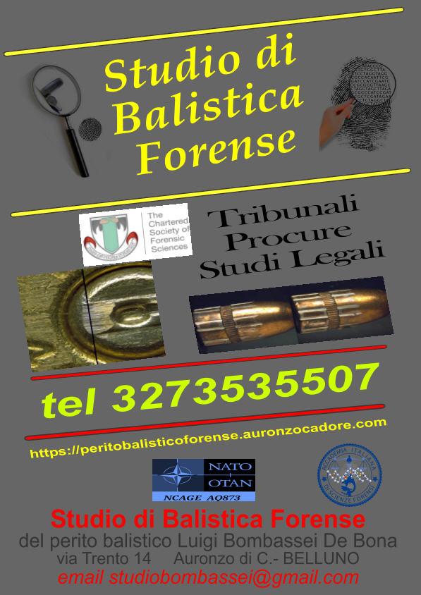 indagini forensi  scena del crimine studio balistica forense perito balistico